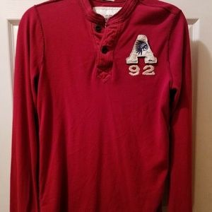 BOYS Abercrombie NY Pullover Dark Red SZ XL